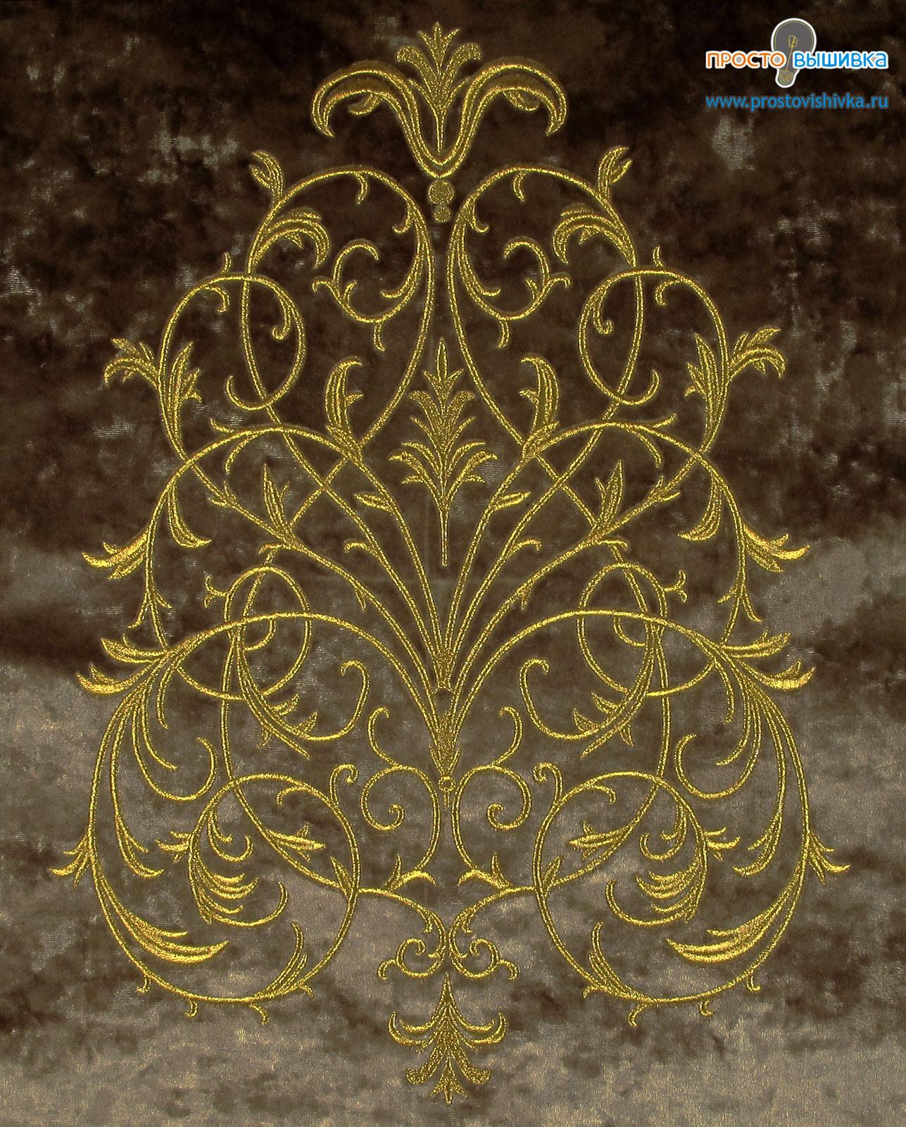 Вышивка золотыми нитками