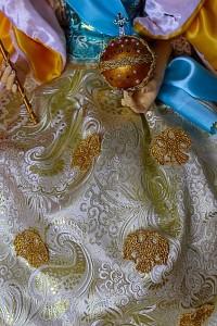 Вышивка золотом орлов